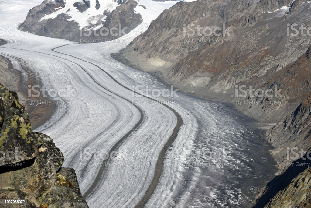 Aletschgletscher - Aletsch Glacier stock photo