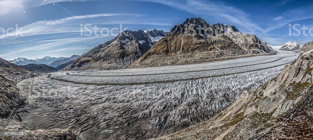 Aletschgletscher - Great Aletsch Glacier stock photo