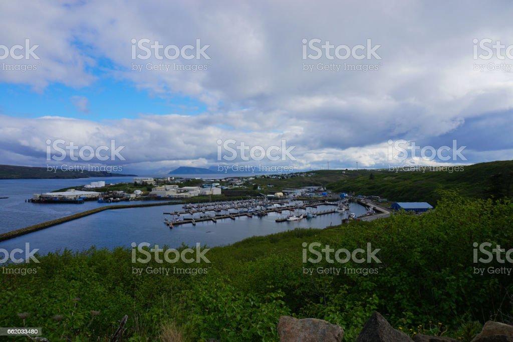 Aleutian Village stock photo