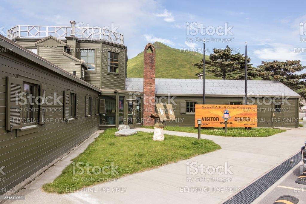 Aleutian World War II National Historic Area, Visitor Center, Unalaska. stock photo