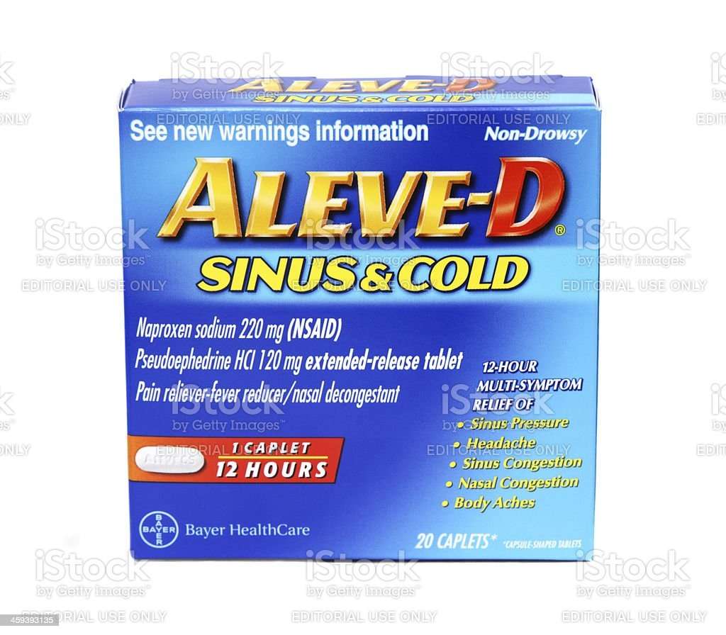 Aleve-D Sinus and Cold medication stock photo