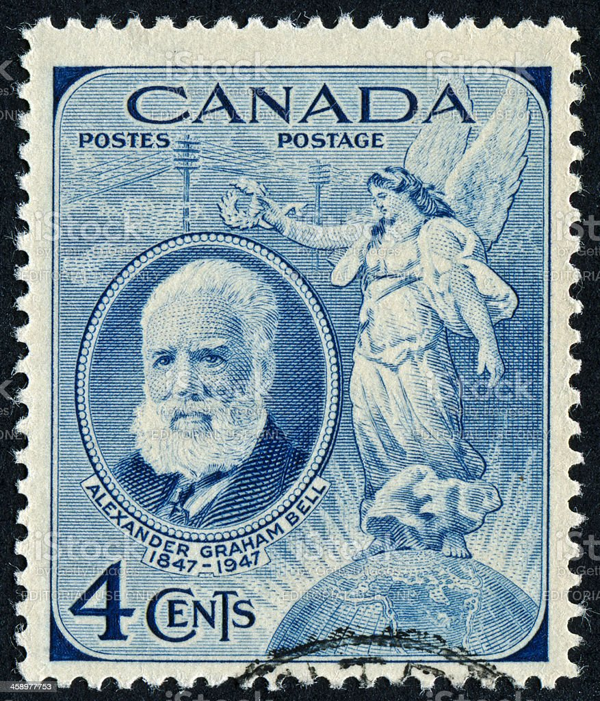 Alexander Graham Bell Stamp stock photo
