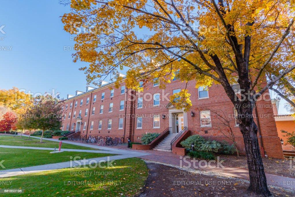 Alexander Hall at NC State University stock photo