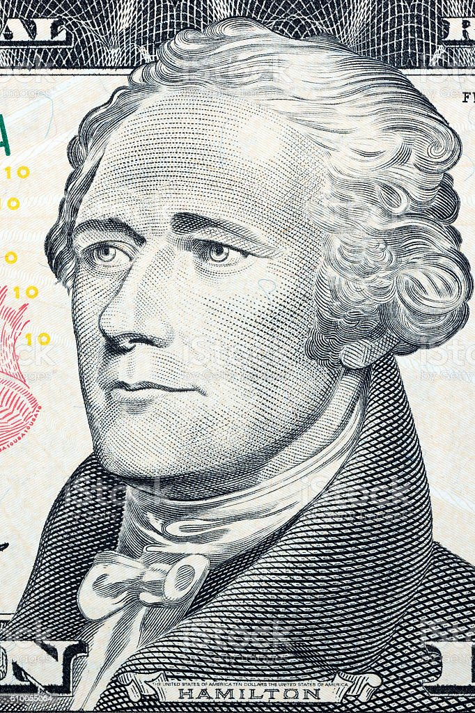 Alexander Hamilton, portrait stock photo