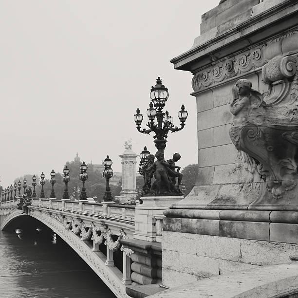 Alexander III Bridge stock photo