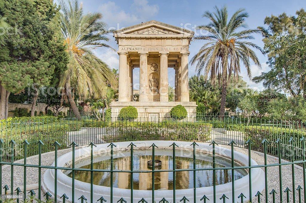 Alexander John Ball monument in Valletta, Malta stock photo