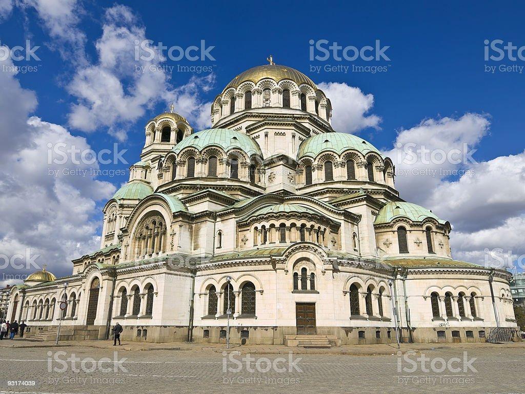 Alexander Nevski Church stock photo