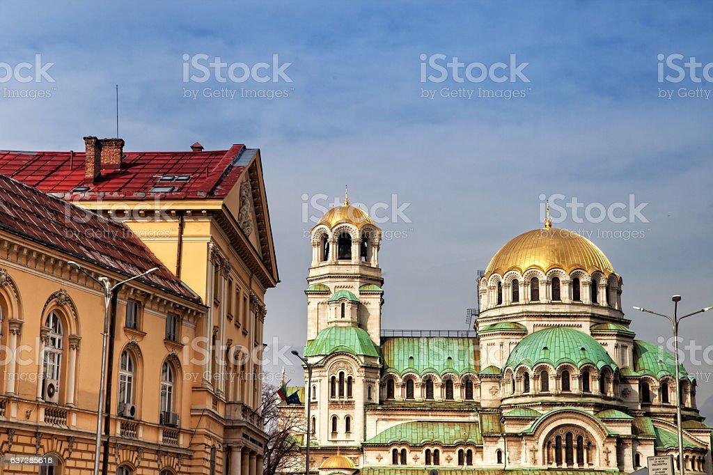 Alexander Nevsky Cathedral in Sofia, Bulgaria stock photo