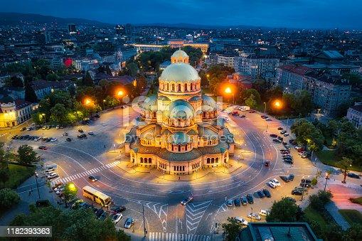Alexander Nevsky Cathedral in Sofia, Bulgaria, taken in May 2019, taken in HDR