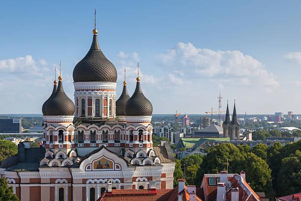 alexander nevsky cathedral in tallinn, estonia - estonya stok fotoğraflar ve resimler