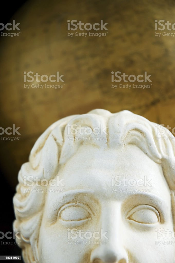 Alexander the Great Bust stock photo