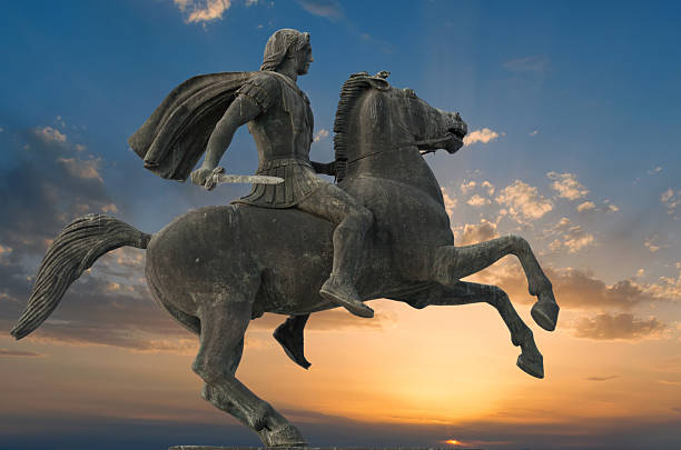 Alexander the great in Thessaloniki stock photo