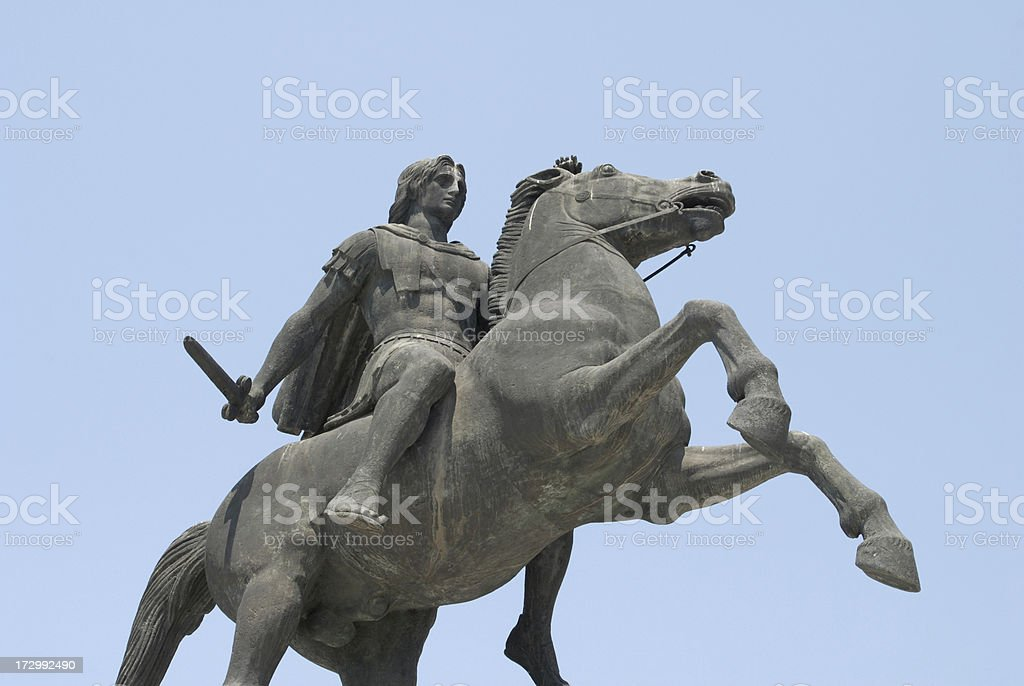 Alexander the Great, look from above stock photo