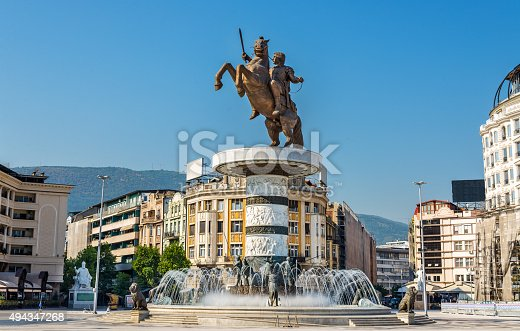 686175420 istock photo Alexander the Great Monument in Skopje - Macedonia 494347268