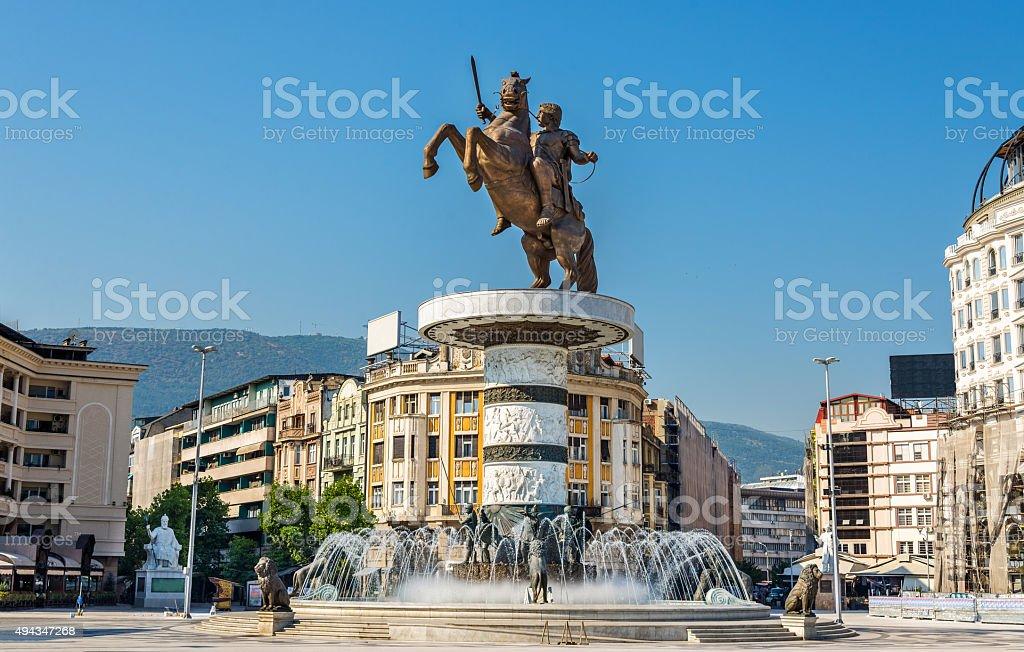 Alexandre o Grande monumento em Skopje-Macedônia - foto de acervo