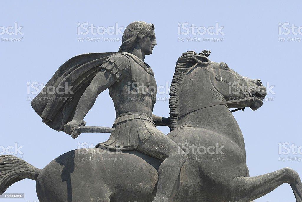 Alexandre o Grande cavalo Bucephalus - foto de acervo
