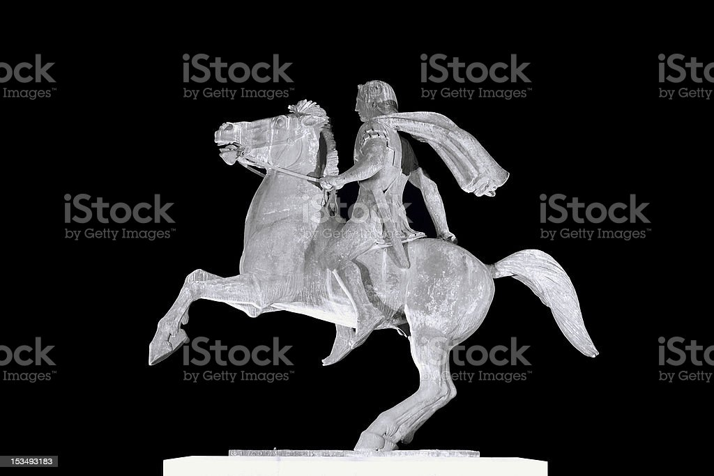 'Alexander the Great' statue in Thessaloniki, Greece stock photo