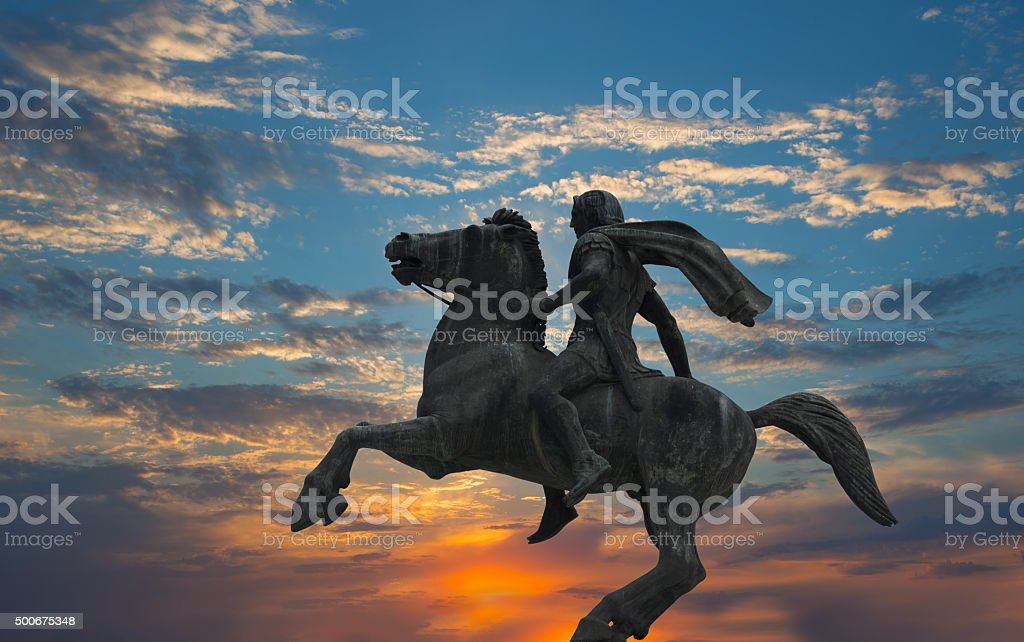 Alexander the Great ,Thessaloniki city,Greece stock photo