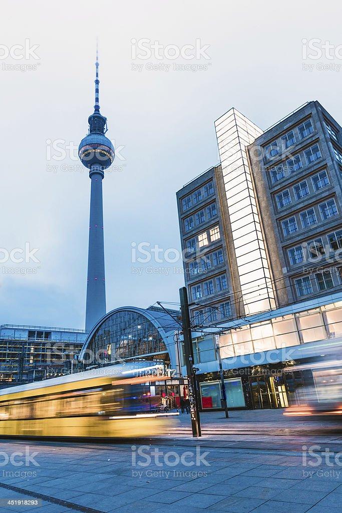 Alexanderplatz in Berlin royalty-free stock photo