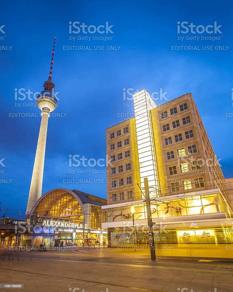 Alexanderplatz, Fernsehturm Tower, Berlin stock photo