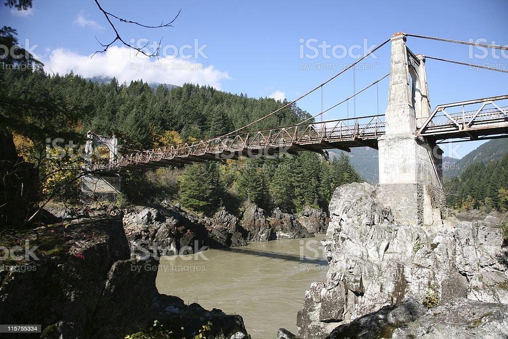 1926 Alexandra Bridge across Fraser River, British Columbia. royalty-free stock photo