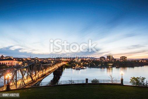 istock Alexandra Bridge in the evening 696149210