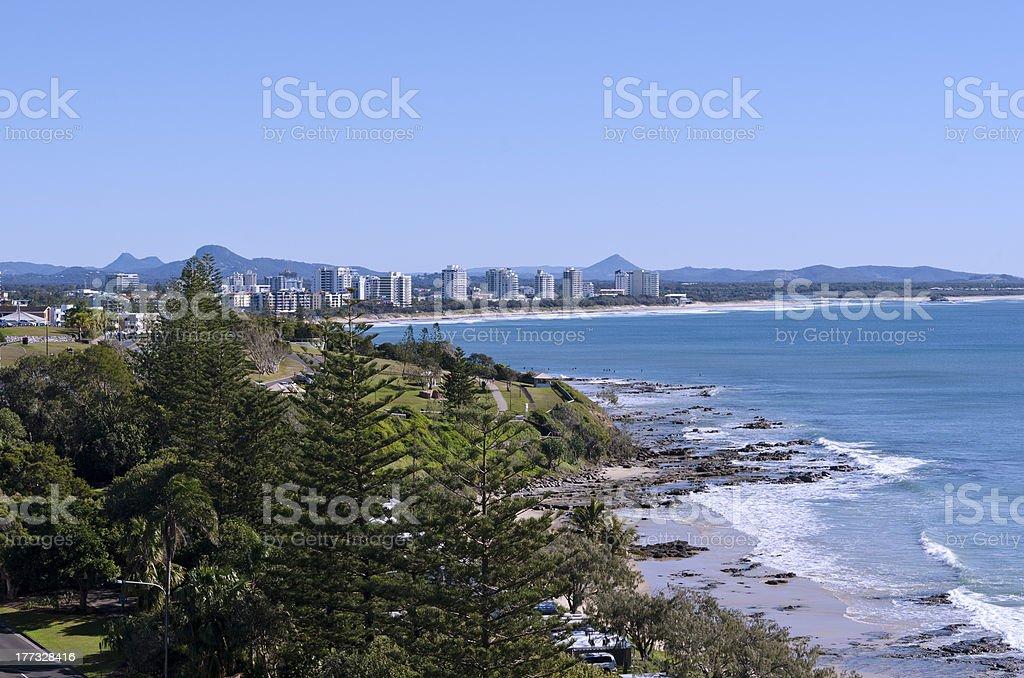 Alexandra Headland Beach Sunshine Coast Queensland Australia stock photo