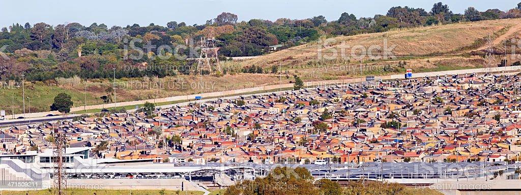 Alexandra Township in Johannesburg stock photo