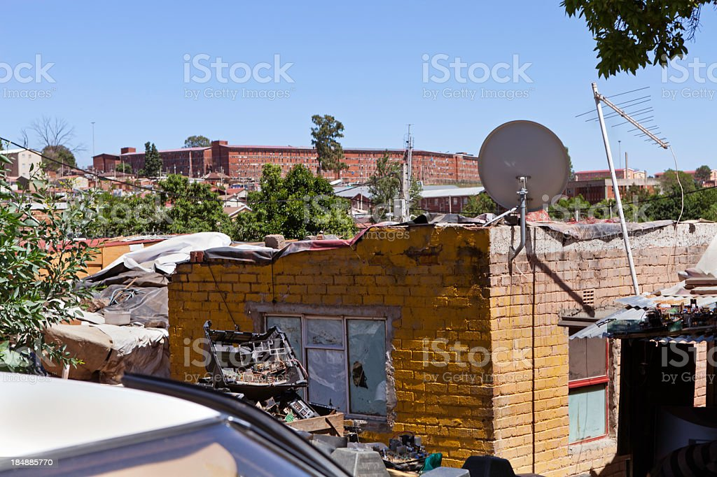 Alexandra Township in Johannesburg, South Africa stock photo