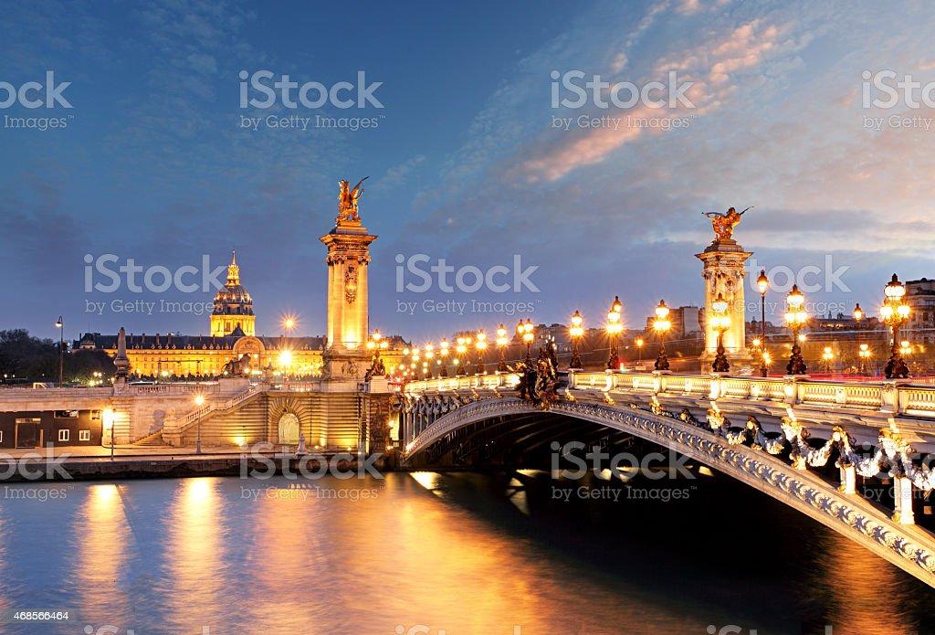 Alexandre 3 Bridge, Paris, France stock photo