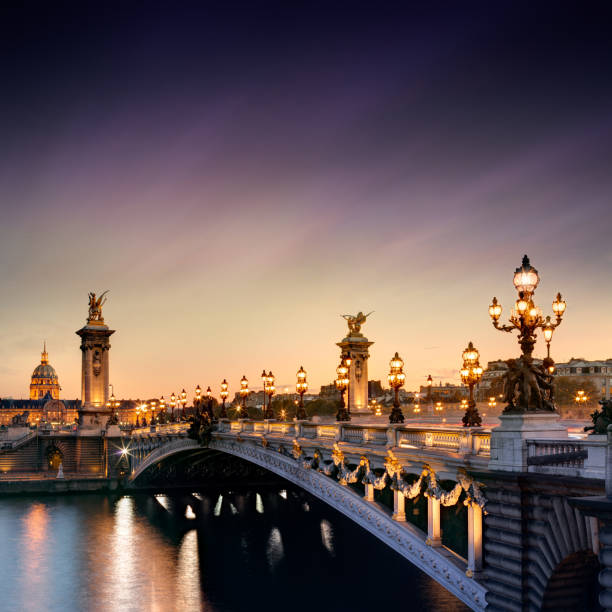 Alexandre III Bridge in Paris, France Alexandre III Bridge in Paris, France central europe stock pictures, royalty-free photos & images