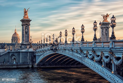 istock Alexandre III bridge in Paris 871901352