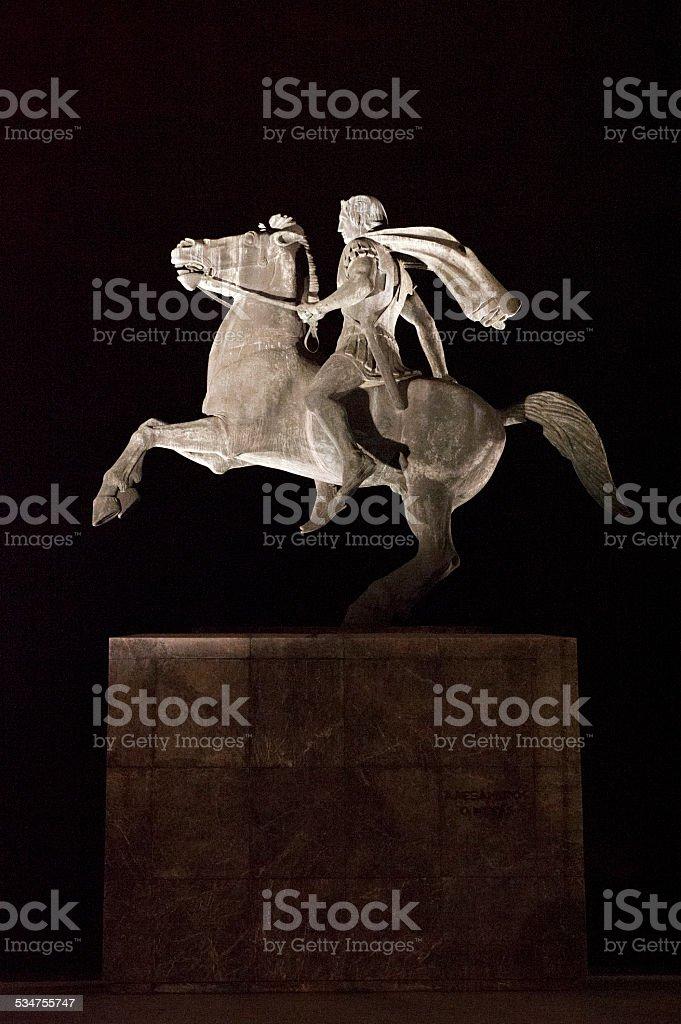 Alexandre le Grand, Thessalonique, Grèce - foto de acervo