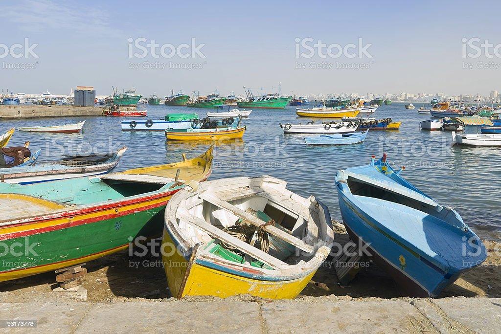 Porto de Alexandria, Egito - foto de acervo