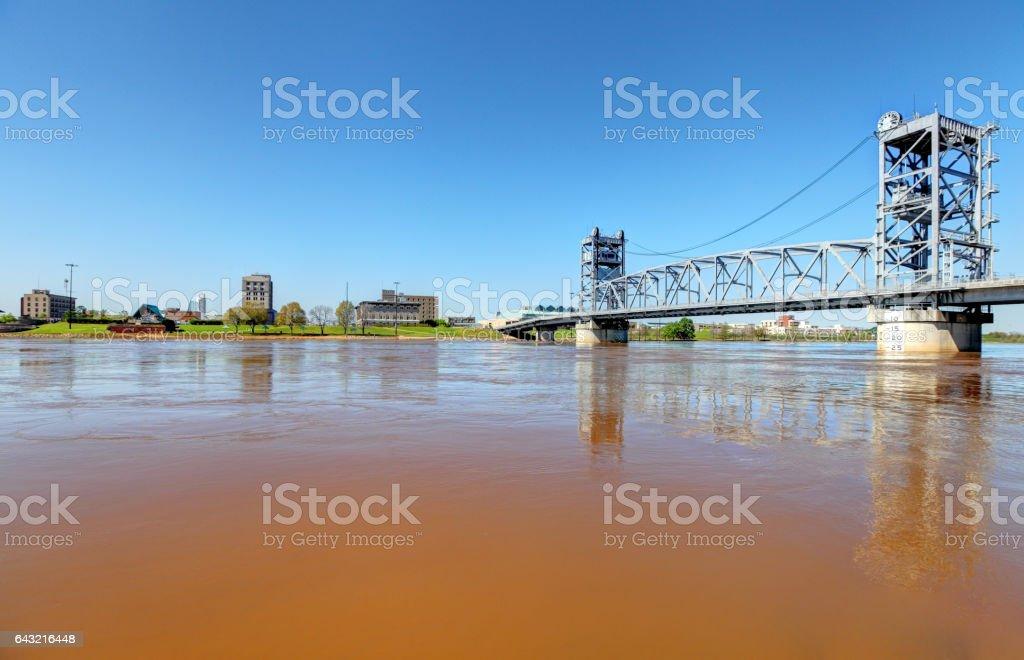 Alexandria, Louisiana along the Red River stock photo