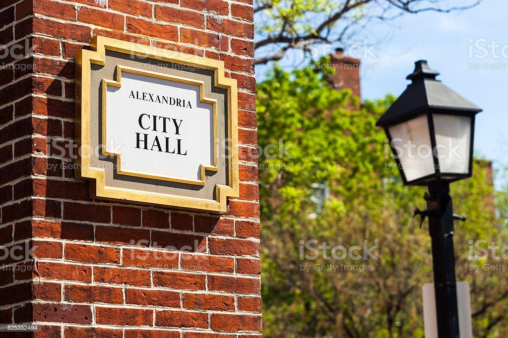 Alexandria, Virginia City Hall stock photo