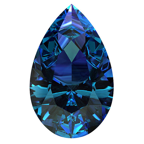 alexandrite - sapphire gemstone stock photos and pictures
