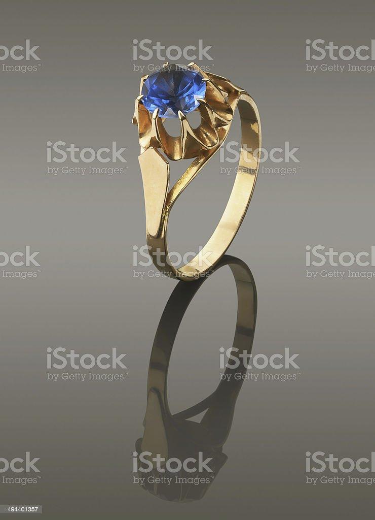 alexandrite ring stock photo