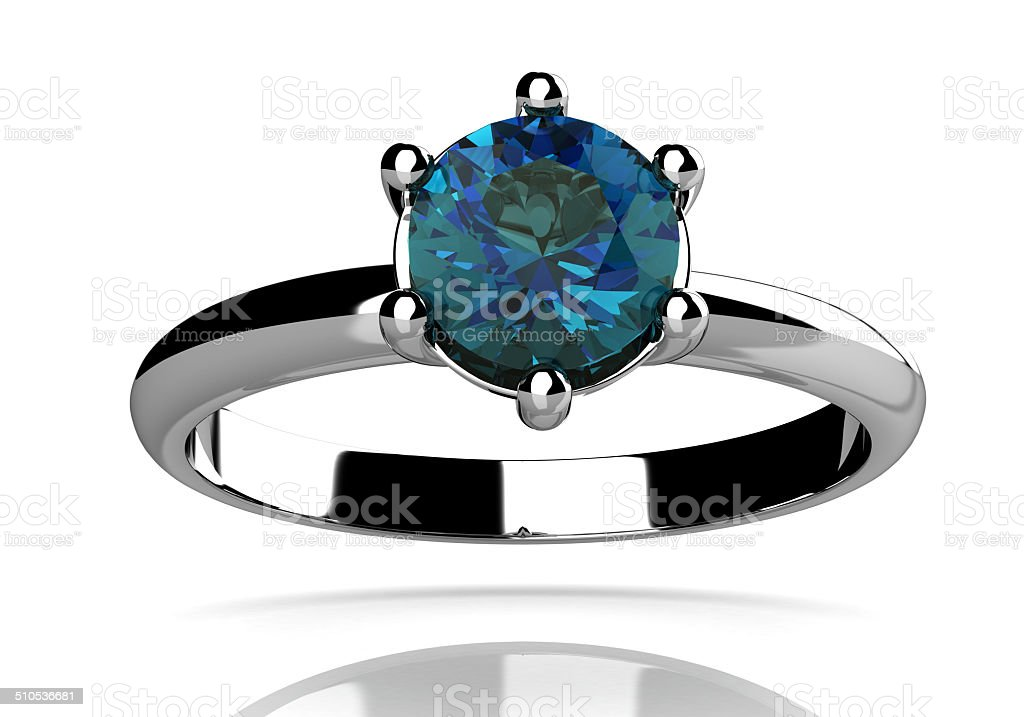 alexandrite ring (high resolution 3D image) stock photo
