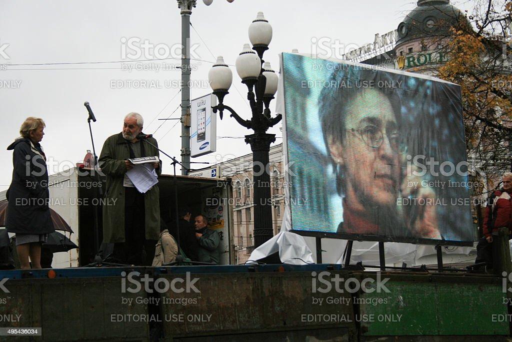 Alexei Simonov, President of the glasnost defence Foundation stock photo