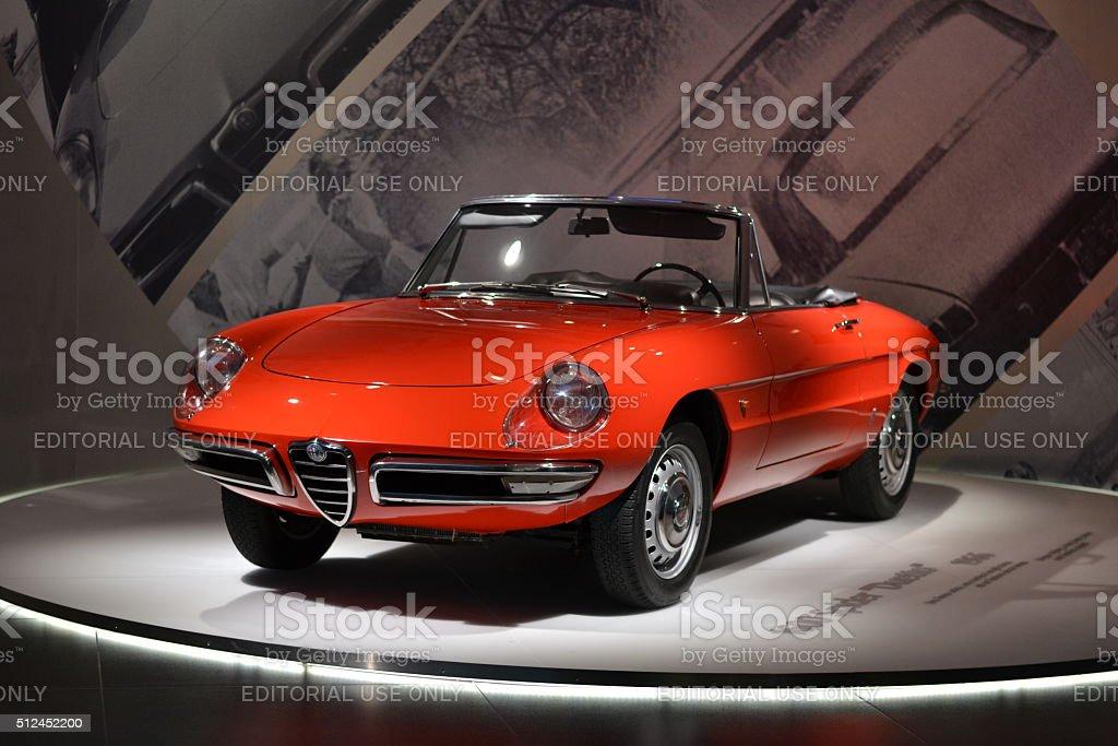 Alfa Romeo 1600 Spinne Duetto im Auto Museum – Foto