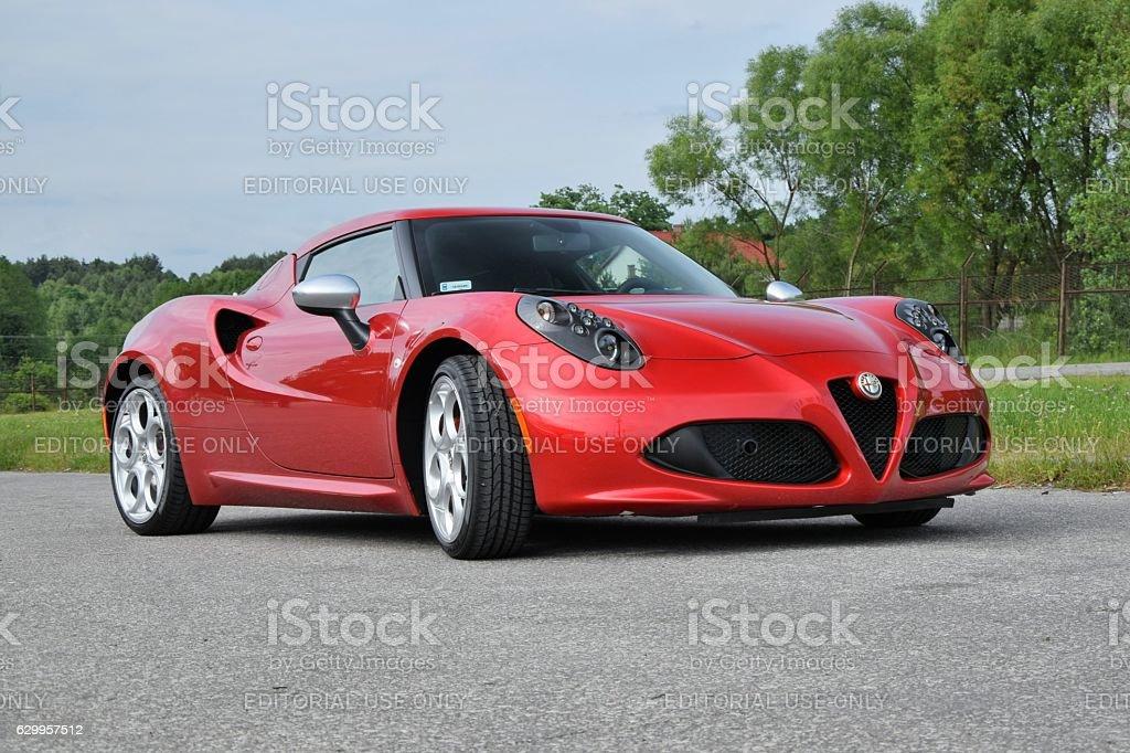 Alfa Romeo 4C auf der Straße – Foto
