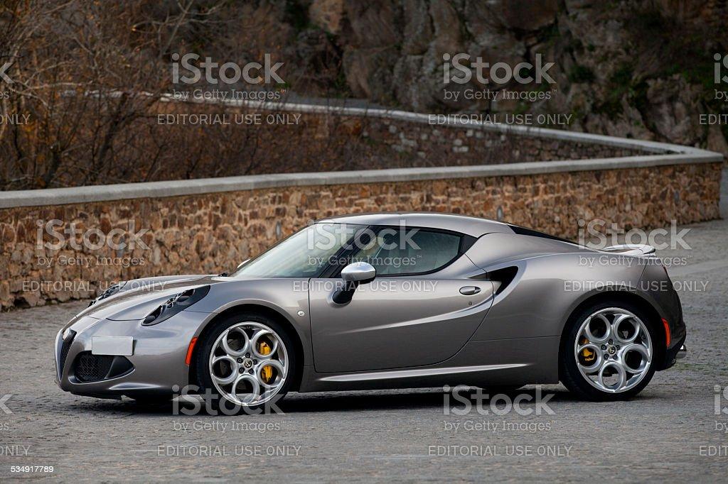 Alfa Romeo 4C. stock photo