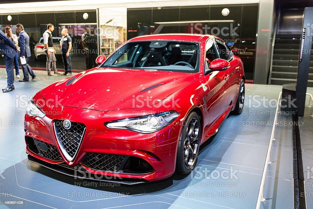 2016 Alfa Romeo Giulia stock photo