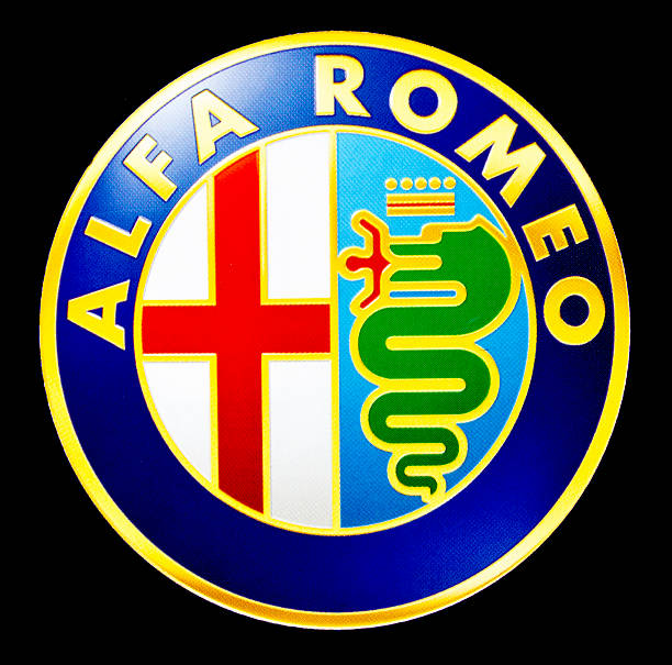 alfa romeo - badge logo stock pictures, royalty-free photos & images