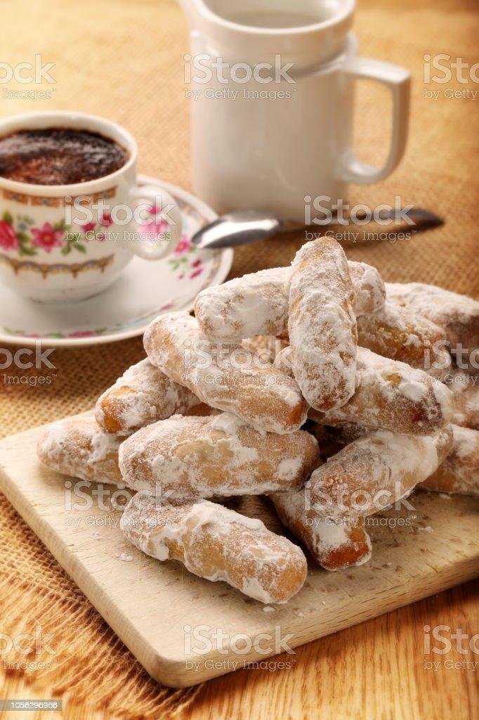 Alfajores galletas Español tradicionales de harina de maíz - foto de stock