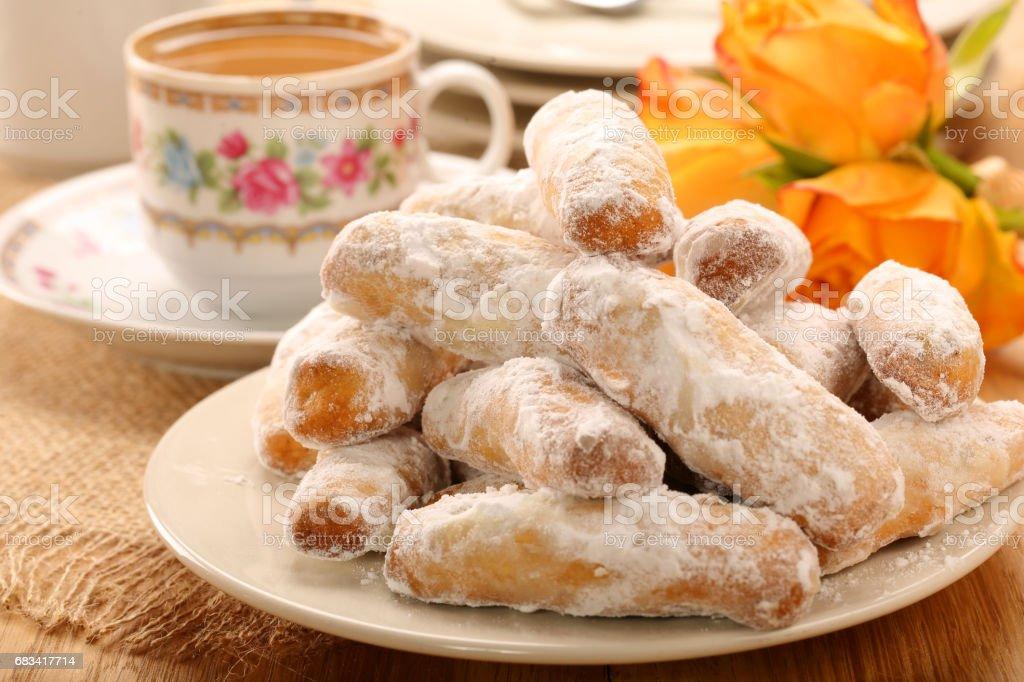 Alfajores traditional Spanish sweet cookies - foto de stock
