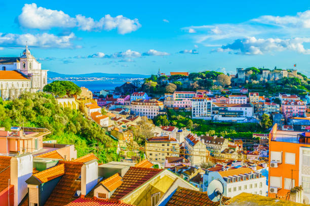 alfama district at lisbon - lisbona foto e immagini stock