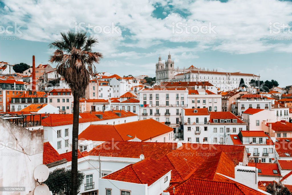 Alfama from above, Lisbon stock photo