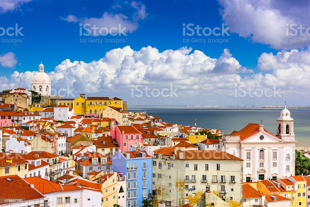 Alfama Lisbon Cityscape stock photo